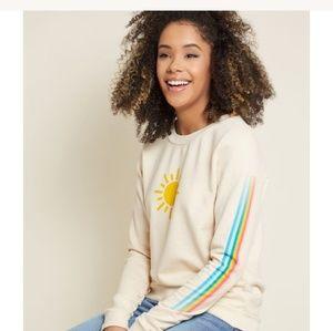 New Modcloth Super Cute Sun Graphic Sweatshirt